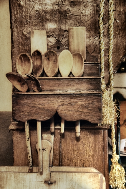 Old Fasioned Wooden Spoon Rack